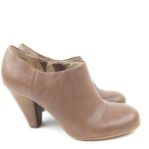 New Crown Vintage Ankle Boots 7 Lion Brown Booties